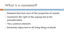 Nonmetals and Metalloids - ppt download