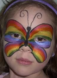 face painting designs rainbow erfly