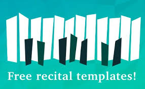 Free Recital Templates Look Sharp Composecreate Com