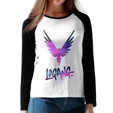 Logan Paul Logang Maverick Girls Long Sleeves Raglan T Shirts Rose