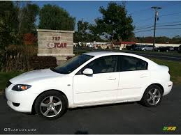 2004 Rally White Mazda MAZDA3 i Sedan #55101457 | GTCarLot.com ...