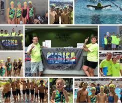2018 storm swim team collage of photos of the swim team