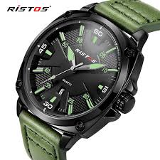 online buy whole green mens watches from green mens reloj hombre 2017 ristos fashion chronograph sport mens watches top brand luxury military green quartz watches