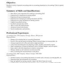 Creative Accounting Clerk Resume Spelndid Occupational Health Nurse