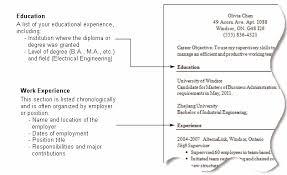 Format Of Resume In Canada Unique Resume In Canada Example