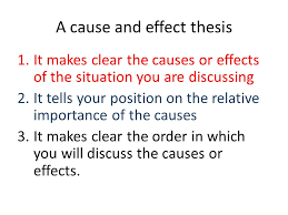 cause and effect essays ppt a cause and effect thesis