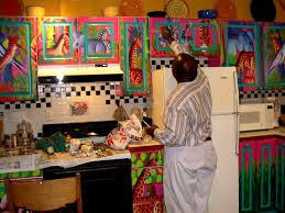 colorful painted kitchen cabinets ideas