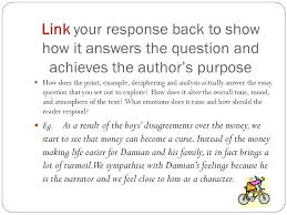 pedal your way to better grades ppt video online link your response back to show how it answers the question and achieves the author s purpose