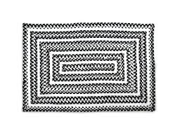mackenzie childs rugs details about crayon braided rug black white 2 x 3 new nip style