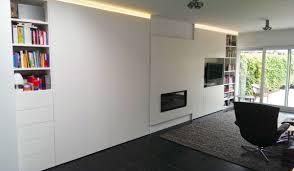 Grote Wandkast Keuken Lichte Scandinavische Woonkamer Homease