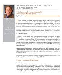 the a f accountability mistake texas accountability series texas accountability essay series