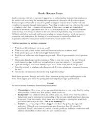 reader response essay cover letter summary essay example interview