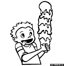 Small Picture Ice Cream Cone Online Coloring Page
