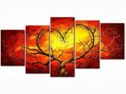 Peinture sur toile Coeur brûlant - Amour - Abstraits - Tableaux