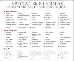 ... Resume 2 Special Skills On It Skills Sample Format Intended For Special  Skills ...