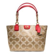 Lyst - Coach Madison Op Art Sateen Tote in Natural
