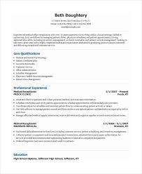 Receptionist Resume Template Free Receptionist Resume Template 7 Free Word  Pdf Document Download Download