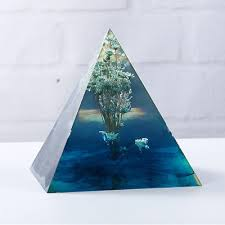 Pyramid <b>Crystal Epoxy</b> Silicone Mould <b>DIY Handmade</b> 50mm*50mm ...