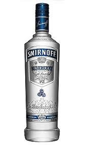 smirnoff blueberry flavored vodka