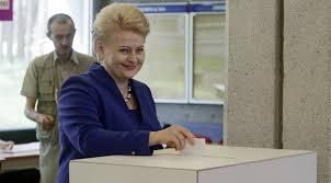 Президентом Литвы переизбрана Даля Грибаускайте ПОЛИТИКУС  Президентом Литвы переизбрана Даля Грибаускайте