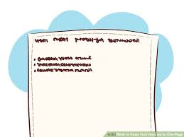 How To Keep Your Resume To One Page 40 Steps With Pictures Inspiration Should Resumes Be One Page