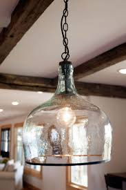 Bell Shaped Pendant Lights Chain Pendant With Bell Shaped Glass Shade Farmhouse