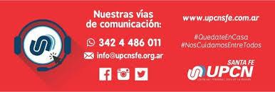 UPCN Santa Fe cumple con el aislamiento social, preventivo y obligatorio
