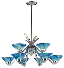 elk lighting refraction 9 light chandelier