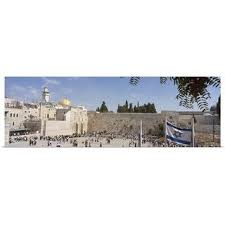 Shop Crowd praying in front of a <b>stone wall</b> Wailing Wall Dome Of ...