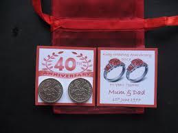 40th anniversarys ideas 40th anniversary gift
