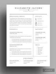 What To Put On Modern Resume Resume Modern Resume Resume Template Cv Word Cv Template