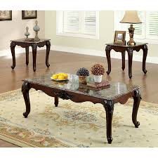 Cherry accent table Plantation Cherry Furniture Of America Colchester 3piece Cherry Asian Hardwood Accent Table Set Coleman Furniture Furniture Of America Colchester 3piece Cherry Asian Hardwood Accent