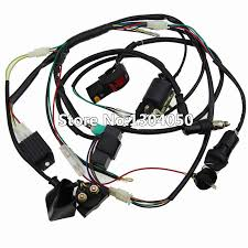 full electrics wiring harness loom solenoid coil regulator cdi 50c full electrics wiring harness loom solenoid coil regulator cdi 50c 70cc 110cc 125cc dirt pit trail bike