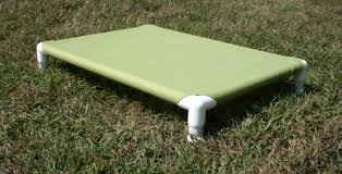pvc pipe elevated outdoor dog bed
