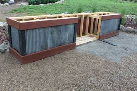 wood patio ideas on a budget. Rustic Outdoor Summer Kitchen, Concrete Masonry, Living, Woodworking Projects, We Added More Of The Old Barn Roof Material For Siding And Trimmed It Wood Patio Ideas On A Budget S