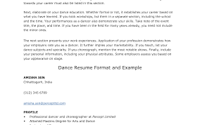Excellent Dance Teacher Resume Cover Letter Images Example Resume