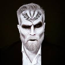 white walker inspired face painting make up photo riina laine
