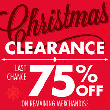 Image result for christmas clearance 75 off