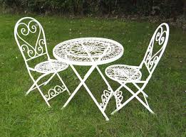 shabby chic bistro set garden table and chairs