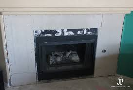 backer board installed on fireplace surround replace
