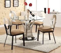 coaster glass top dining table