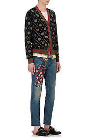 gucci pants. gucci embellished slim jeans - 505139164 pants