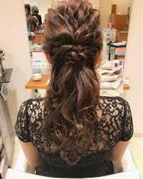 ヘアアレンジ特集ミディアム編結婚式にピッタリの華やかスタイルhair