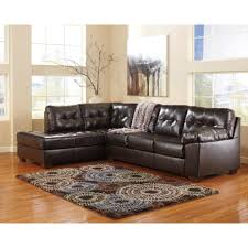 flash furniture signature design by ashley alliston sectional in chocolate durablend 2399seccho the home depot