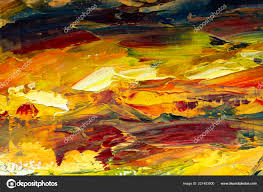 colorful abstract painting background oil paint texture palette knife can stock image