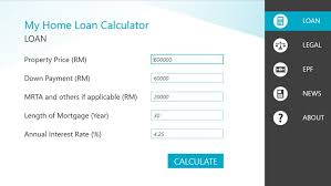 calculator house loan malaysia home loan calculator for windows 8 and 8 1