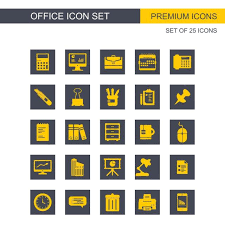 Office Icons Set Icon Office Icons Png And Vector For Free Download