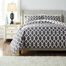 architecture cool grey pattern duvet cover signature design by ashley 3 piece set gray patterned cool