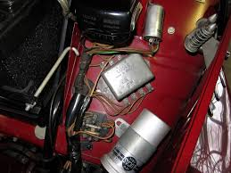 the original mgtd midget the mg wiring colour code below regulator past fuse pvc