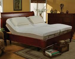 Bedroom Double Mattress Adjustable Platform Bed With Gray Regard To ...